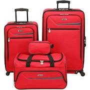 IZOD Metro 3.0 4 pc. Spinner Upright Luggage Set