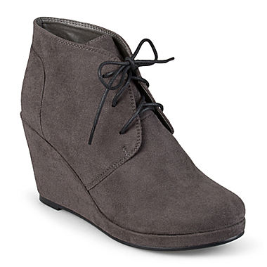 Journee Collection Enter Womens Wedge Booties Jcpenney