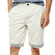 Arizona Rolled-Hem Flat-Front Shorts