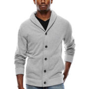 Arizona Solid Fleece Cardigan Sweater