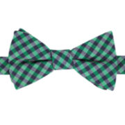 IZOD® Bear Gingham Pre-Tied Bow Tie