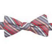 JF J. Ferrar® Shafer Stripe Pre-Tied Bow Tie