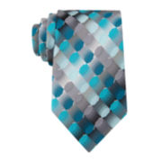 Van Heusen® Optical Geo Silk Tie - Extra Long