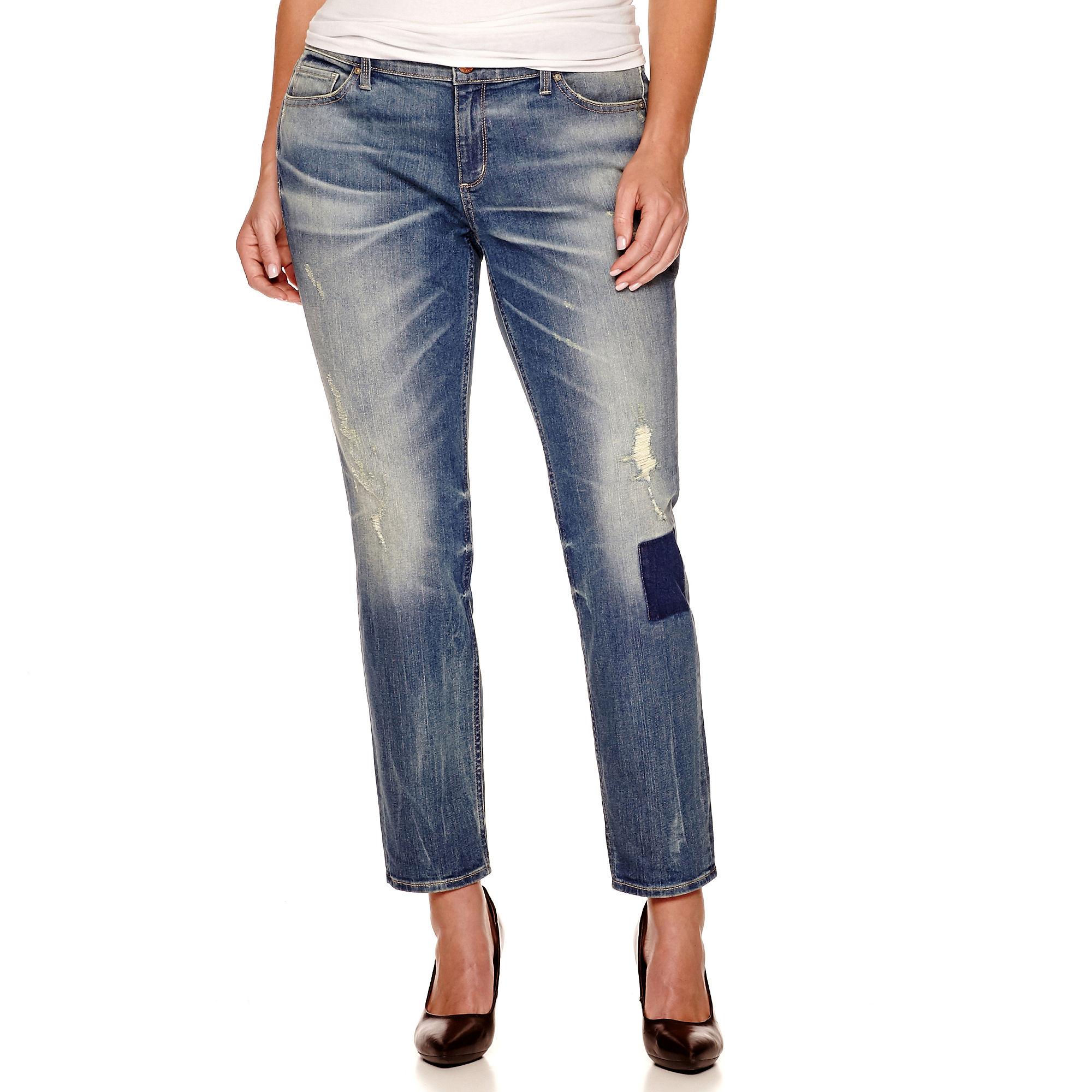 Arizona Patch Super Skinny Jeans - Juniors Plus plus size,  plus size fashion plus size appare