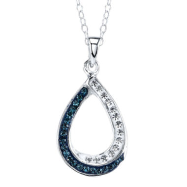jcpenney.com | Crystal Sophistication™ Blue & Clear Crystal-Accent Open Teardrop Pendant Necklace