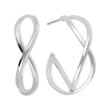jcpenney.com | Silver-Plated Infinity Earrings