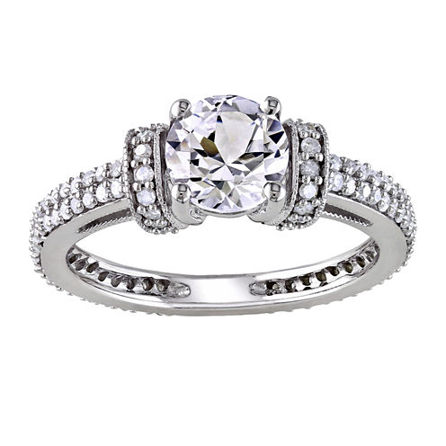 tw diamond lab created white sapphire engagement ring - Jcpenney Jewelry Wedding Rings