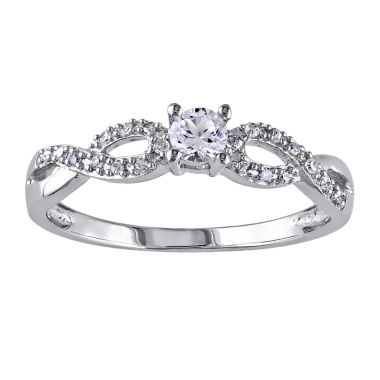 jcpenney.com | 1/10 CT. T.W. Diamond & Lab-Created White Sapphire Engagement Ring