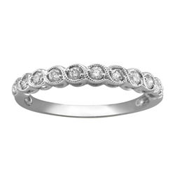 ¼ CT. T.W. Diamond 10K White Gold Anniversary Band