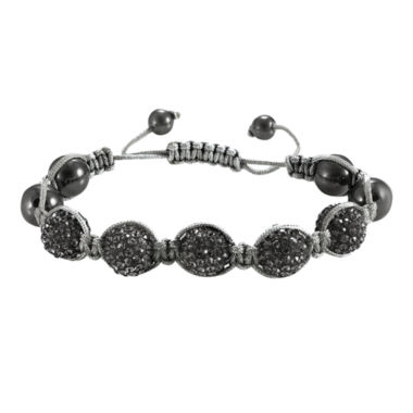 jcpenney.com | Men's Hematite & Two-Tone Crystal Bracelet