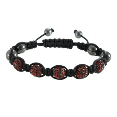 jcpenney.com | Men's Hematite, Red & Black Crystal Bracelet
