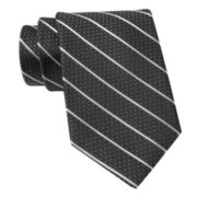 Claiborne Pin Dot Stripe Silk Tie