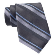 Claiborne Textured Stripe Silk Tie