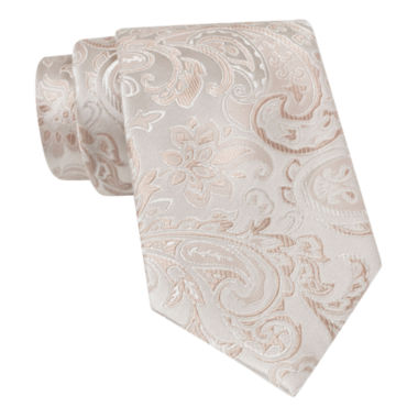 jcpenney.com | Stafford® Tonal Paisley Silk Tie