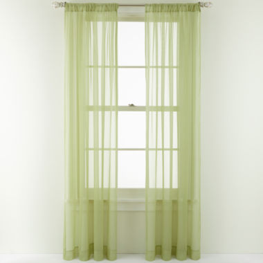 jcpenney.com | Royal Velvet® Willa Rod-Pocket Sheer Panel