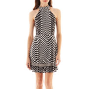 Bisou Bisou® Chevron Print Halter Dress