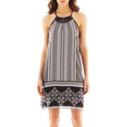 Bisou Bisou® Sleeveless Halter Trapeze Dress