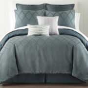 Liz Claiborne Bliss 4-pc. Jacquard Comforter Set