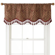 Royal Velvet® Vance Rod-Pocket Lined Scalloped Valance
