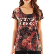 i jeans by Buffalo Short-Sleeve Floral Screen Tee