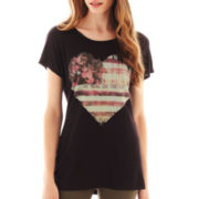 i jeans by Buffalo Short-Sleeve Rustic Heart Screen Tee