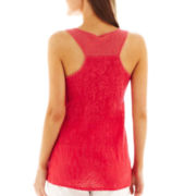 a.n.a® Lace-Back Tank Top