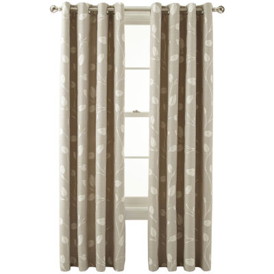 MarthaWindow™ Hampton Leaf Grommet-Top Curtain Panel