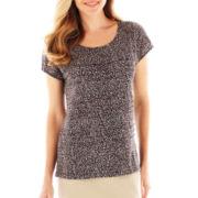 Liz Claiborne® Short-Sleeve Tiered Tee - Tall