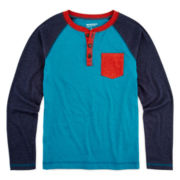 Arizona Long-Sleeve Henley - Boys 8-20 and Husky