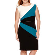Studio 1® Sleeveless Colorblock Sheath Dress - Plus