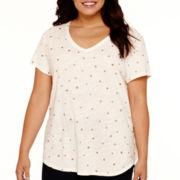 Stylus™ Short-Sleeve Graphic Knit T-Shirt - Plus