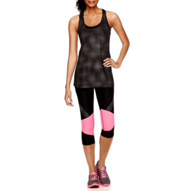 jcpenney.com | Xersion™ Singlet Tank Top or Print-Inset Capris - Tall