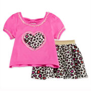 Little Lass Flower Top and Leggings - Baby Girls 12m-24m