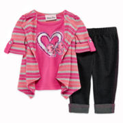 Little Lass Cozy Top and Jeggings - Baby Girls 12m-24m