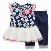 Little Lass Floral Top and Jeggings - Baby Girls 3m-24m
