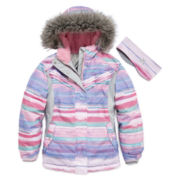 ZeroXposur® Snowboard Jacket with Headband - Girls 7-16