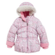 ZeroXposur® Animal-Print Puffer Jacket - Toddler Girls 2t-5t