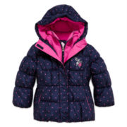ZeroXposur® Polka Dot Puffer Jacket - Preschool Girls 4-6x