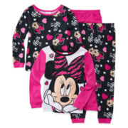 Disney Minnie Mouse 4-pc. Pajama Set - Toddler Girls 2t-4t