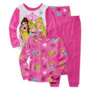 Disney Princess 4-pc. Pajama Set - Toddler Girls 2t-4t