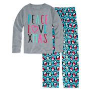 Total Girl® Christmas Penguin Pajama Set - Girls 7-16