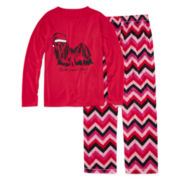 Total Girl® Bad Hair Day Christmas Pajama Set - Girls 7-16