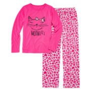 Total Girl® Cat Pajama Set - Girls 7-16
