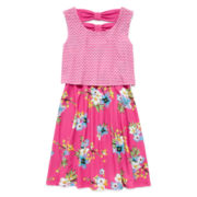 Disorderly Kids® Floral Popover Dress - Preschool Girls 4-6x