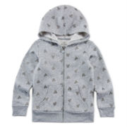 Okie Dokie® Heart-Print Fleece Hoodie - Preschool Girls 4-6x