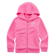 Okie Dokie® Full-Zip Fleece Hoodie - Preschool Girls 4-6x