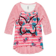 Knit Works High-Low Graphic Top - Girls 7-16 and Plus