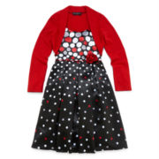 Disorderly Kids® Dress and Cardigan - Girls 7-16 and Plus