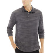 Haggar® Long-Sleeve Poly Polo