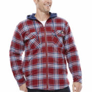 Dickies® Hooded Flannel Shirt Jacket